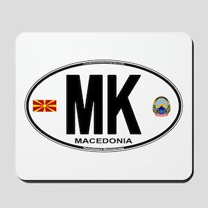 Macedonian Euro Oval Mousepad