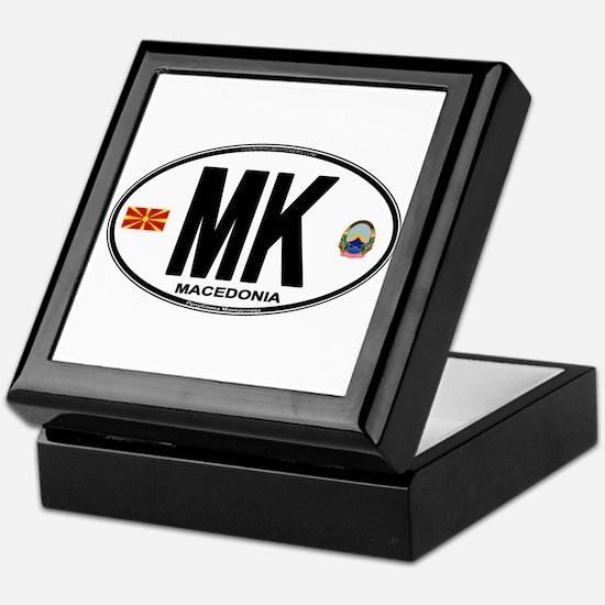 Macedonian Euro Oval Keepsake Box