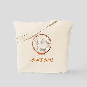 Basketball Jump Hoops White Tote Bag