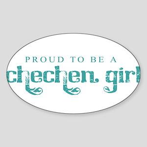 Proud Chechen Girl Sticker (Oval)