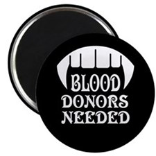"Blood Donors Vampire 2.25"" Magnet (100 pack)"