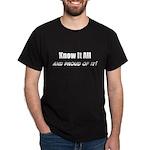 Know It All Black T-Shirt
