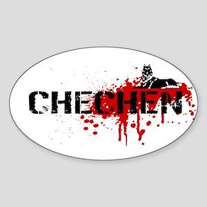 Chechen Grunge Sticker (Oval)