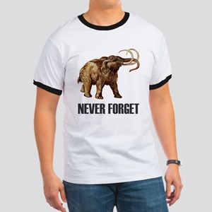 Never Forget Woolly Mammoth Ringer T
