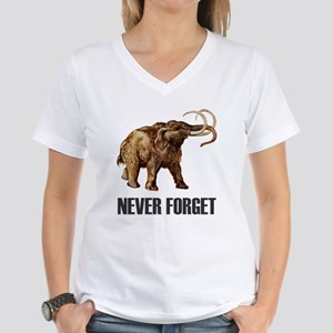 Never Forget Woolly Mammoth Women's V-Neck T-Shirt