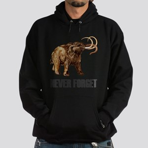 Never Forget Woolly Mammoth Hoodie (dark)