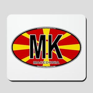 Macedonian Oval Colors Mousepad