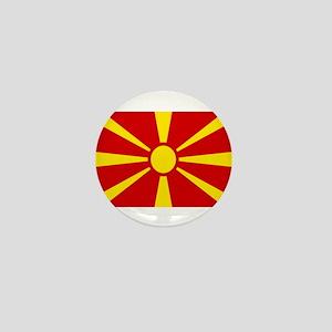 Macedonian Flag Mini Button