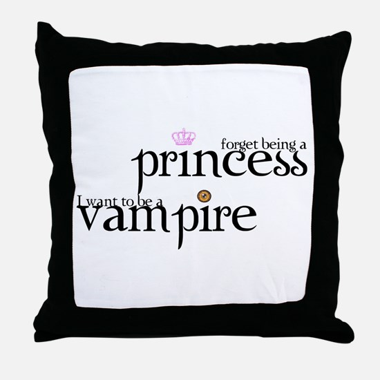 forget being a princess i wan Throw Pillow