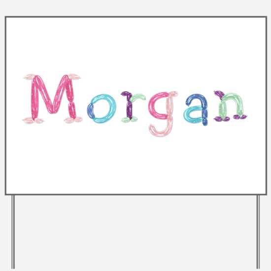 Morgan Princess Balloons Yard Sign