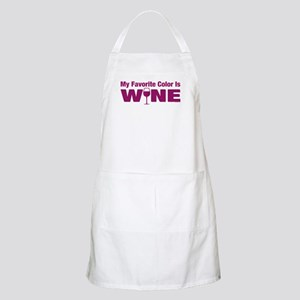 Favorite Color is Wine Apron