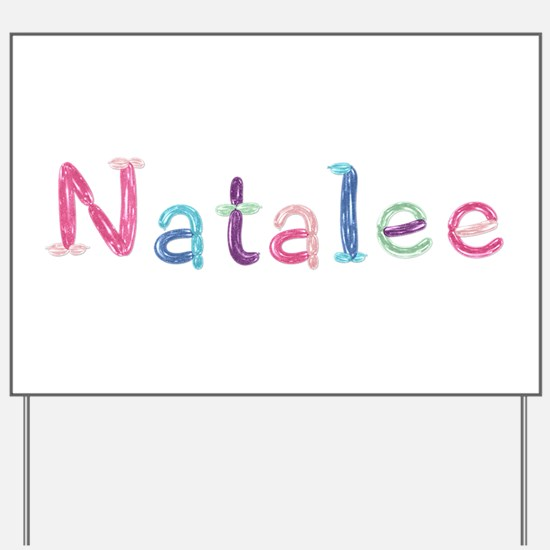Natalee Princess Balloons Yard Sign