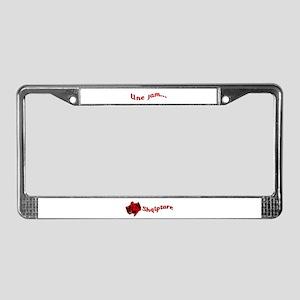 Une Jam Shqiptare License Plate Frame