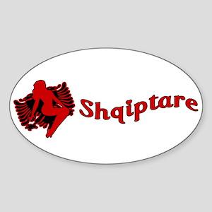 Une Jam Shqiptare Sticker (Oval)