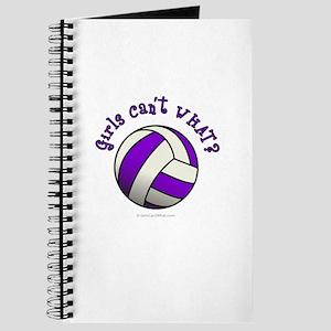 Volleyball Team - Purple Journal