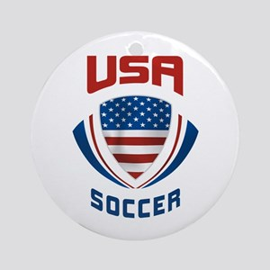 Soccer Crest USA Ornament (Round)