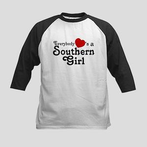 Everybody Hearts a Southern G Kids Baseball Jersey