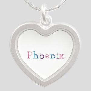 Phoenix Princess Balloons Silver Heart Necklace