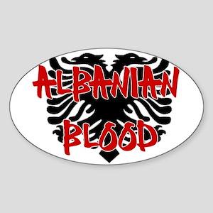 Albanian Blood Sticker (Oval)