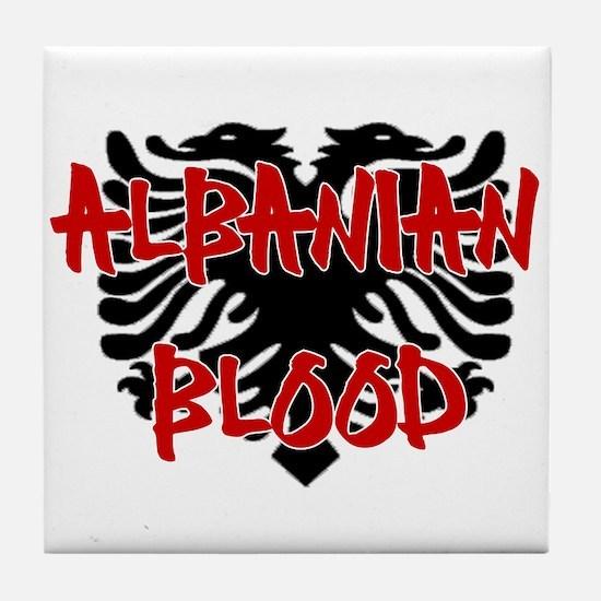 Albanian Blood Tile Coaster
