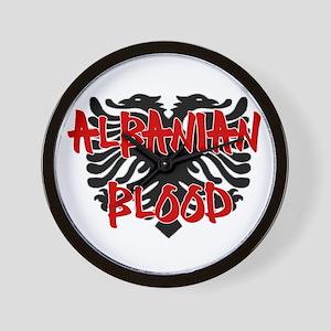 Albanian Blood Wall Clock