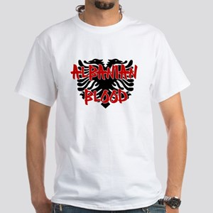 Albanian Blood White T-Shirt