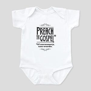 Preach the Gospel 1 Infant Bodysuit