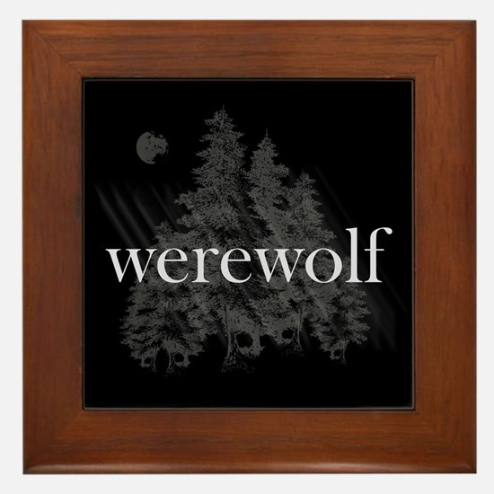 Werewolf Forest Framed Tile