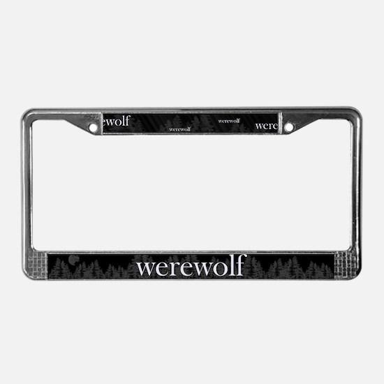 Werewolf Forest License Plate Frame