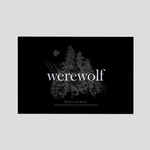 Werewolf Forest Rectangle Magnet