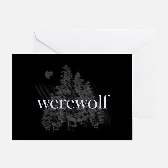 Werewolf Forest Greeting Card