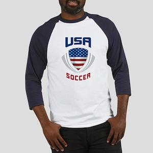Soccer Crest USA blue Baseball Jersey