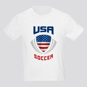Soccer Crest USA blue Kids Light T-Shirt