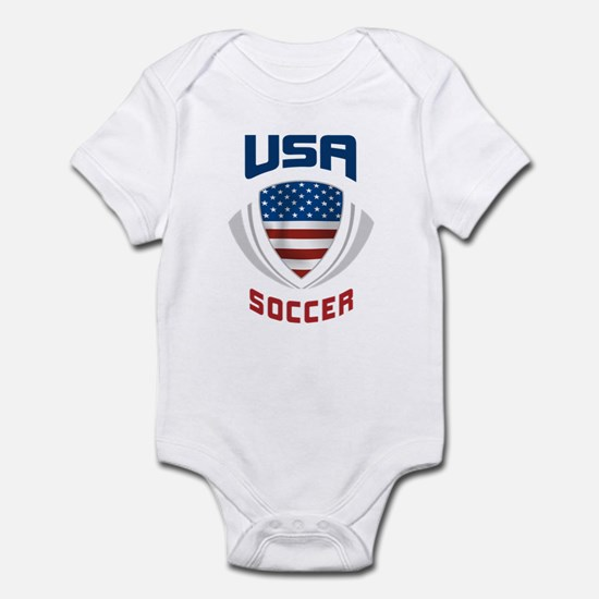 Soccer Crest USA blue Infant Bodysuit