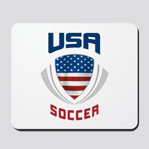 Soccer Crest USA blue Mousepad