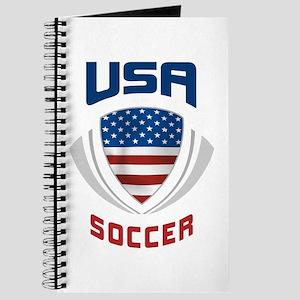 Soccer Crest USA blue Journal