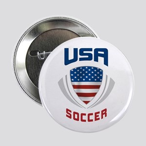 "Soccer Crest USA blue 2.25"" Button"
