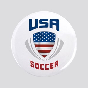 "Soccer Crest USA blue 3.5"" Button"