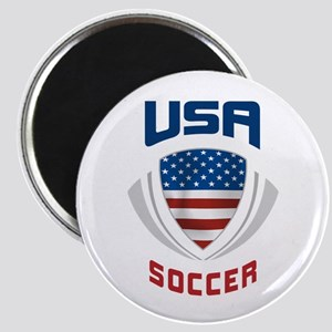 Soccer Crest USA blue Magnet
