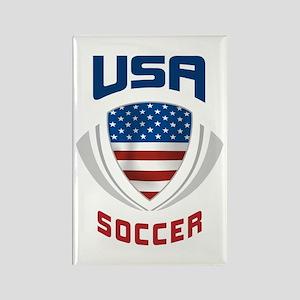 Soccer Crest USA blue Rectangle Magnet