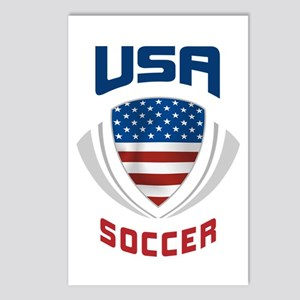 Soccer Crest USA blue Postcards (Package of 8)