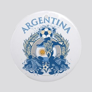 Argentina Soccer Round Ornament