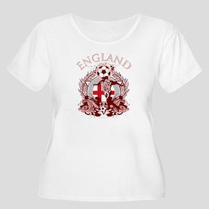England Soccer Women's Plus Size Scoop Neck T-Shir