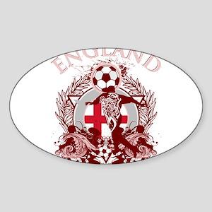 England Soccer Sticker (Oval)