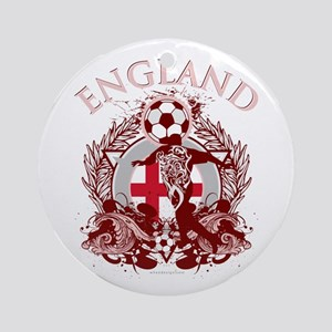 England Soccer Round Ornament
