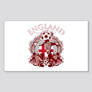 England Soccer Sticker (Rectangle)
