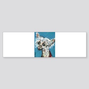 Portrait of a Chinese Crested Sticker (Bumper 10 p