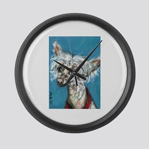 Portrait of a Chinese Crested Large Wall Clock