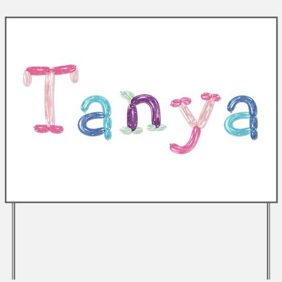 Tanya Princess Balloons Yard Sign