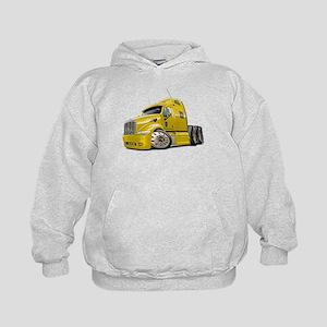 Peterbilt 587 Yellow Truck Kids Hoodie